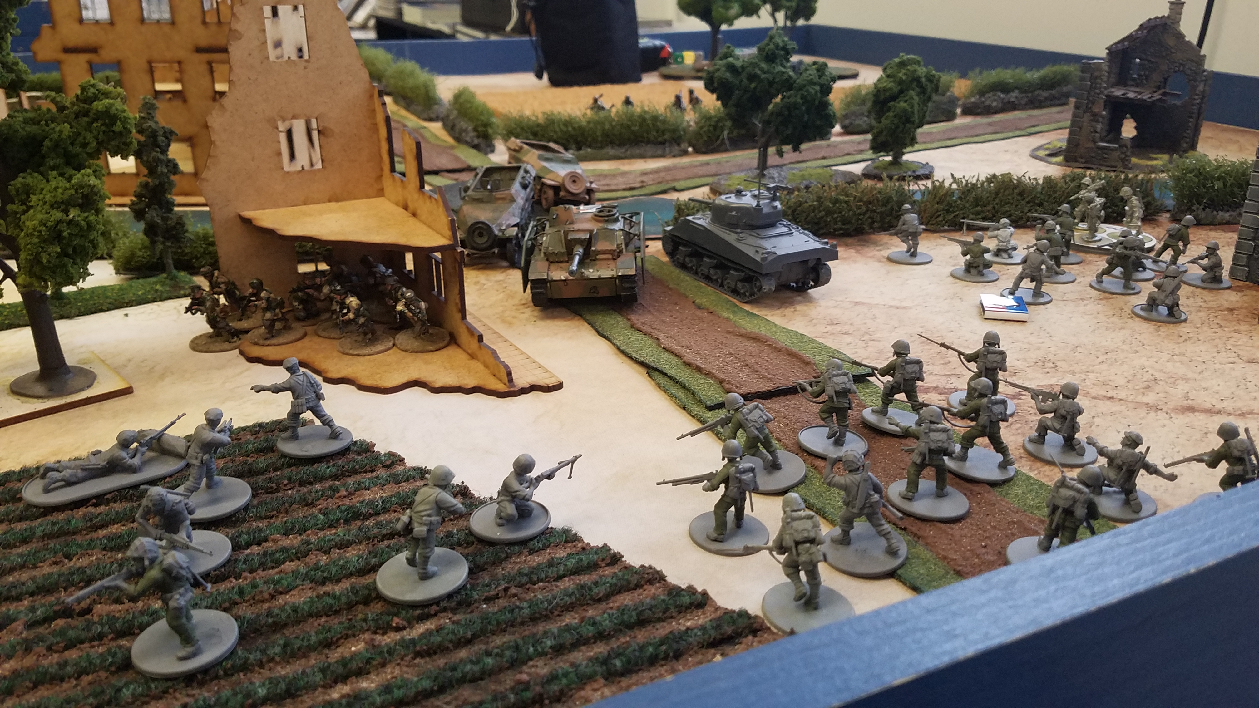 Germans versus Task Force Union in a fierce infantry engagement