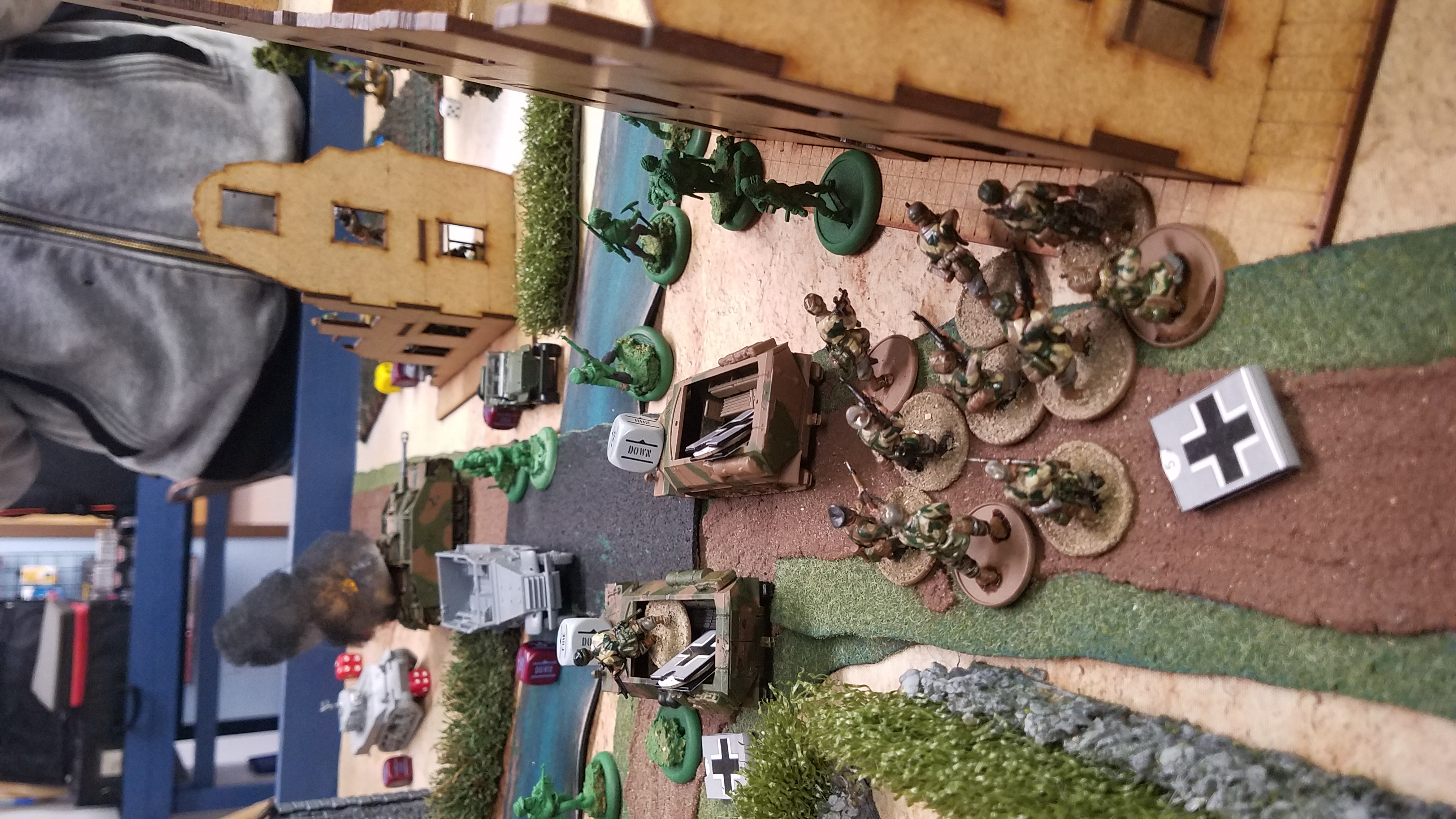 Germans versus 13th DbL Legion in a fierce infantry engagement