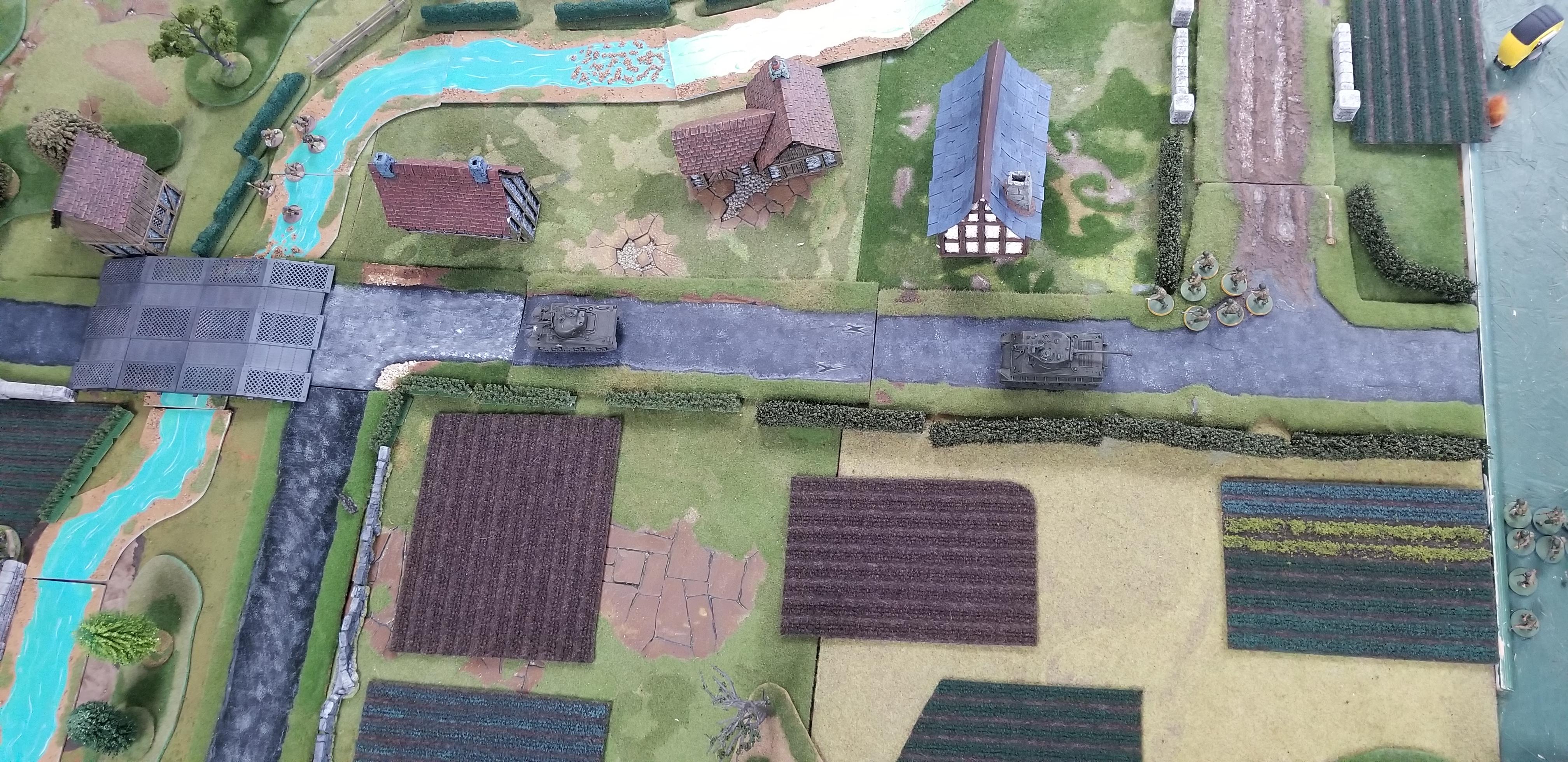Captain's Avengers versus kampfgruppen smiledge in a fierce infantry engagement