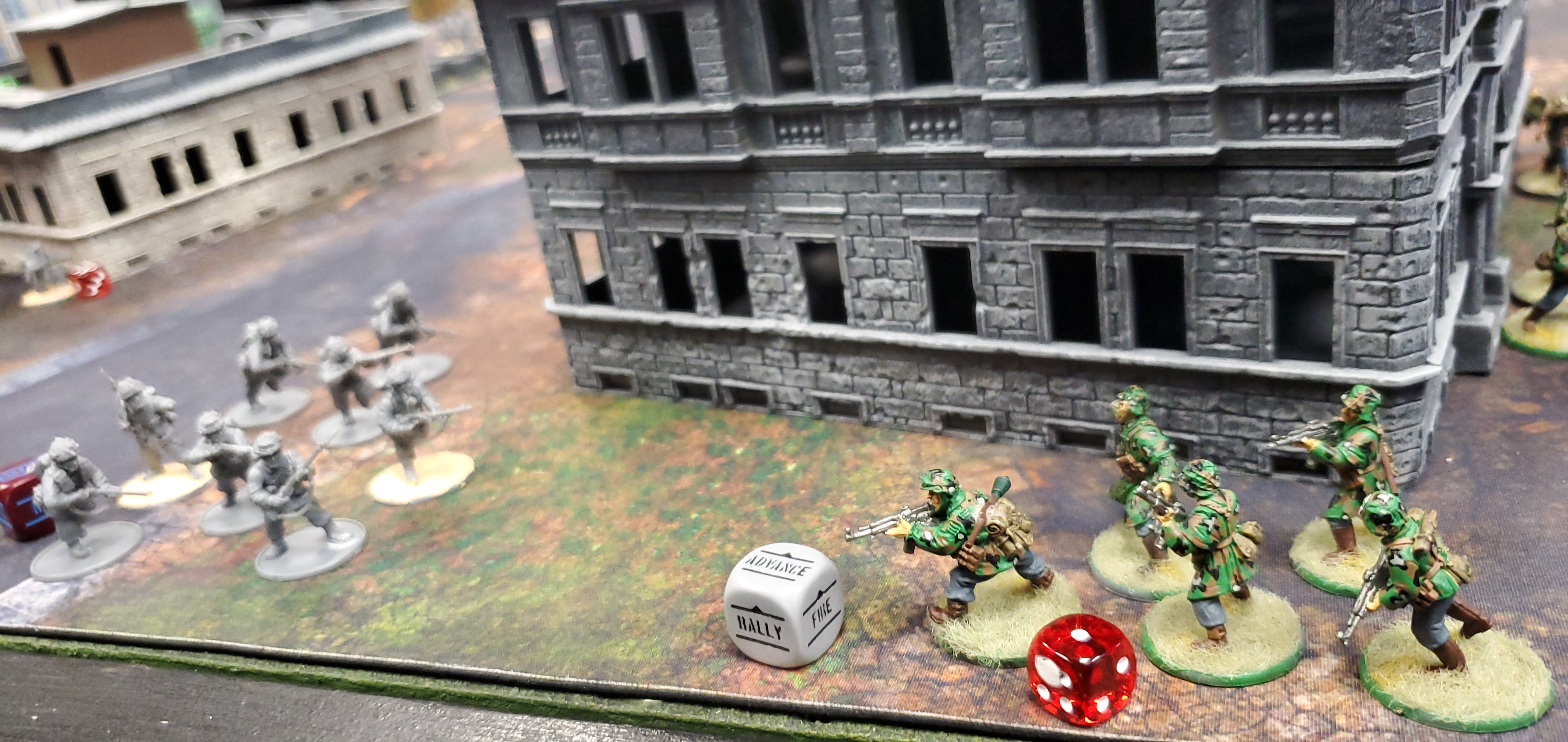 1st SS Panzer Division Leibstandarte SS Adolf Hitler versus 1st lawndarts in a fierce infantry engagement