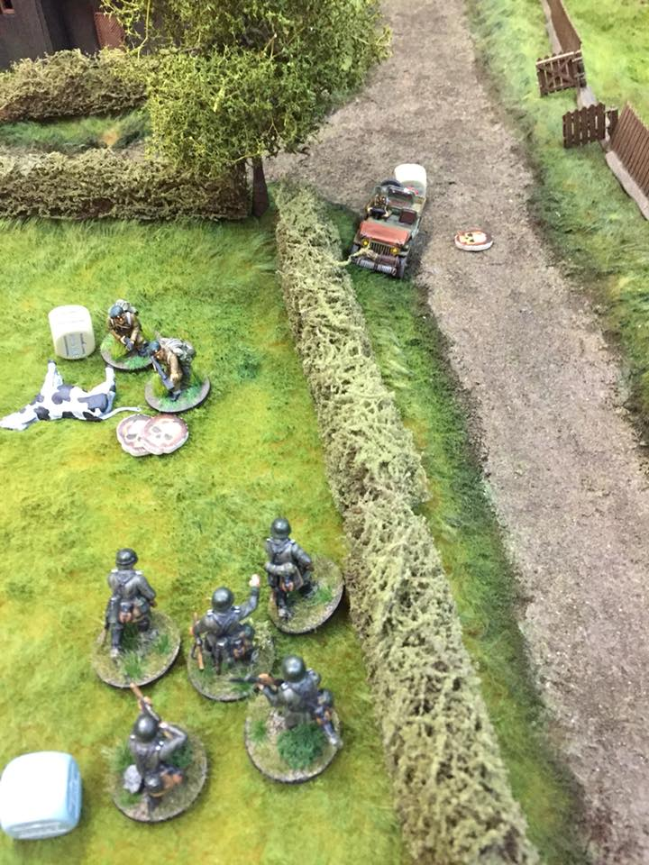 Bolter Commando versus part of 7th army in a fierce infantry engagement