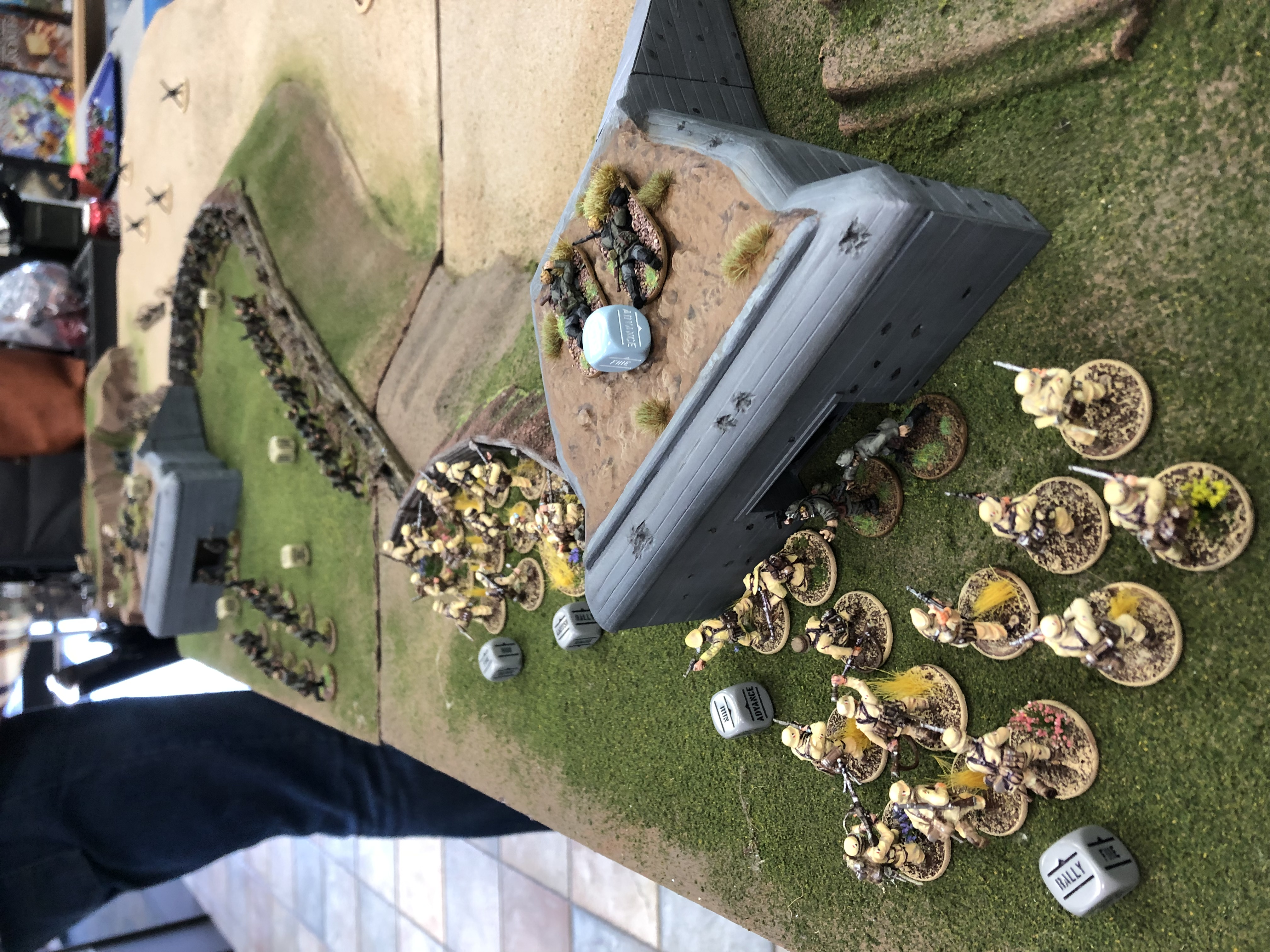 Blue Division versus Tea&Crumpets in a fierce infantry engagement