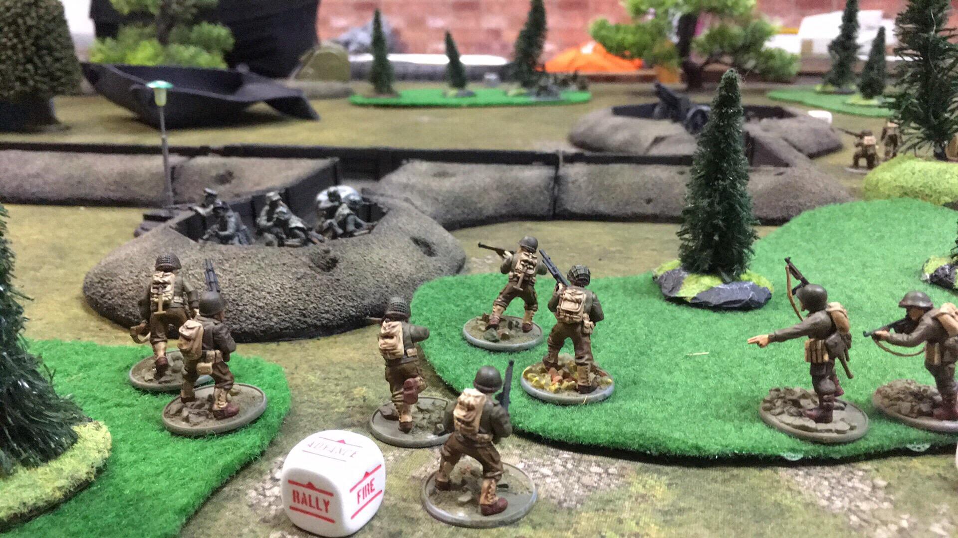 : versus German engineer in a fierce infantry engagement