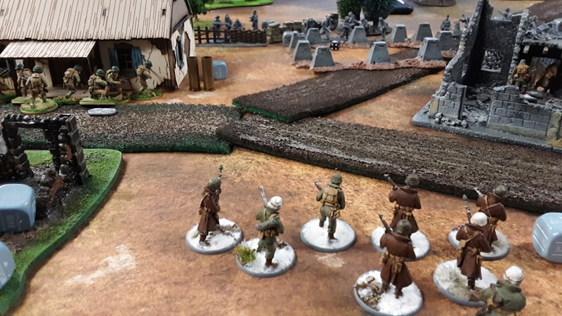 Kampfgruppe Lurtz versus 289th Infantry Regiment in a fierce infantry engagement
