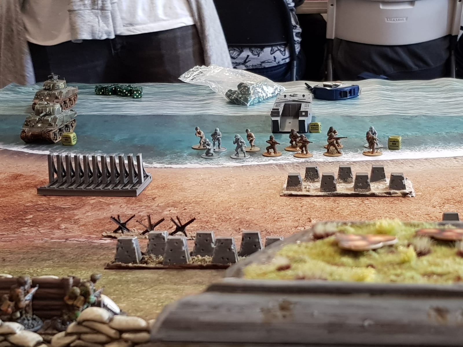 The drop boys versus 3FJD in a fierce infantry engagement