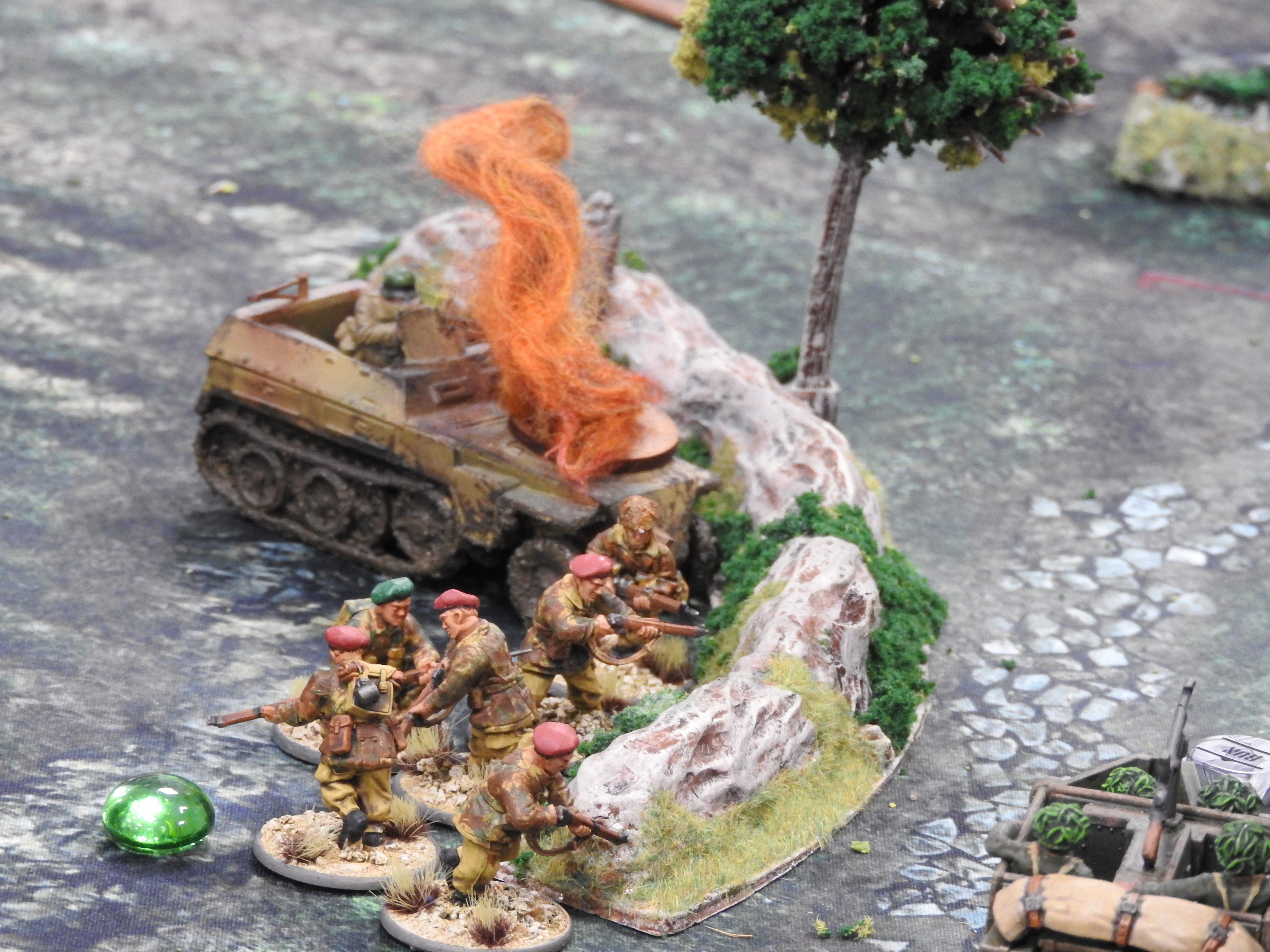Red Devils versus 352nd Infantry Division in a fierce infantry engagement