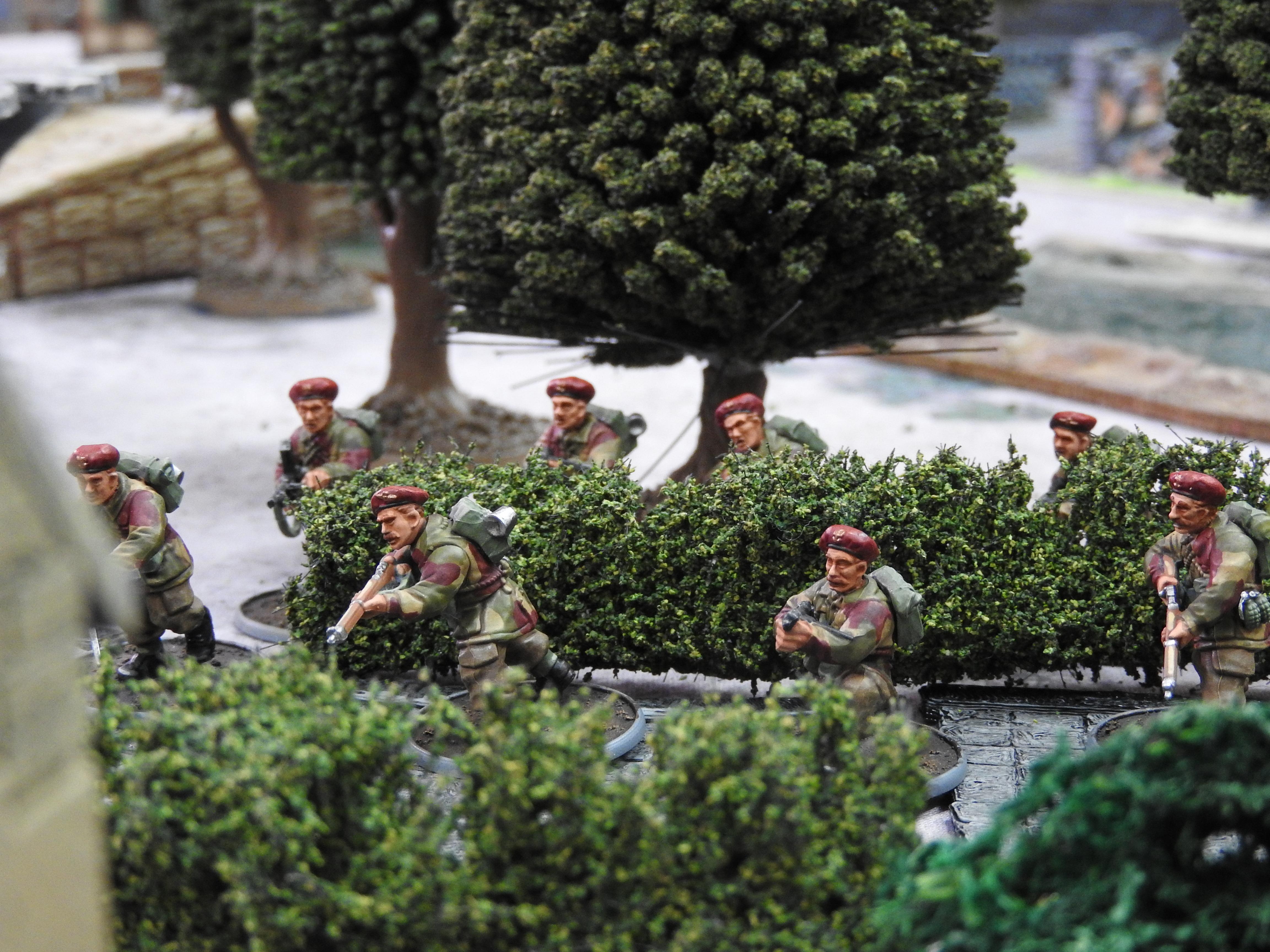 Red Devils versus Italien in a fierce infantry engagement