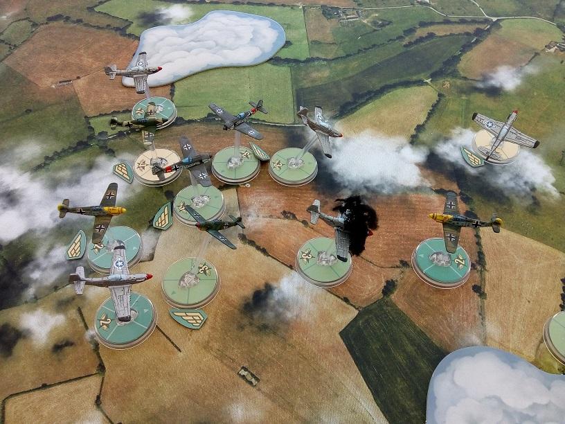 Kampfgruppe Donnervogel versus Old El Diablo Raiders in an aerial engagement