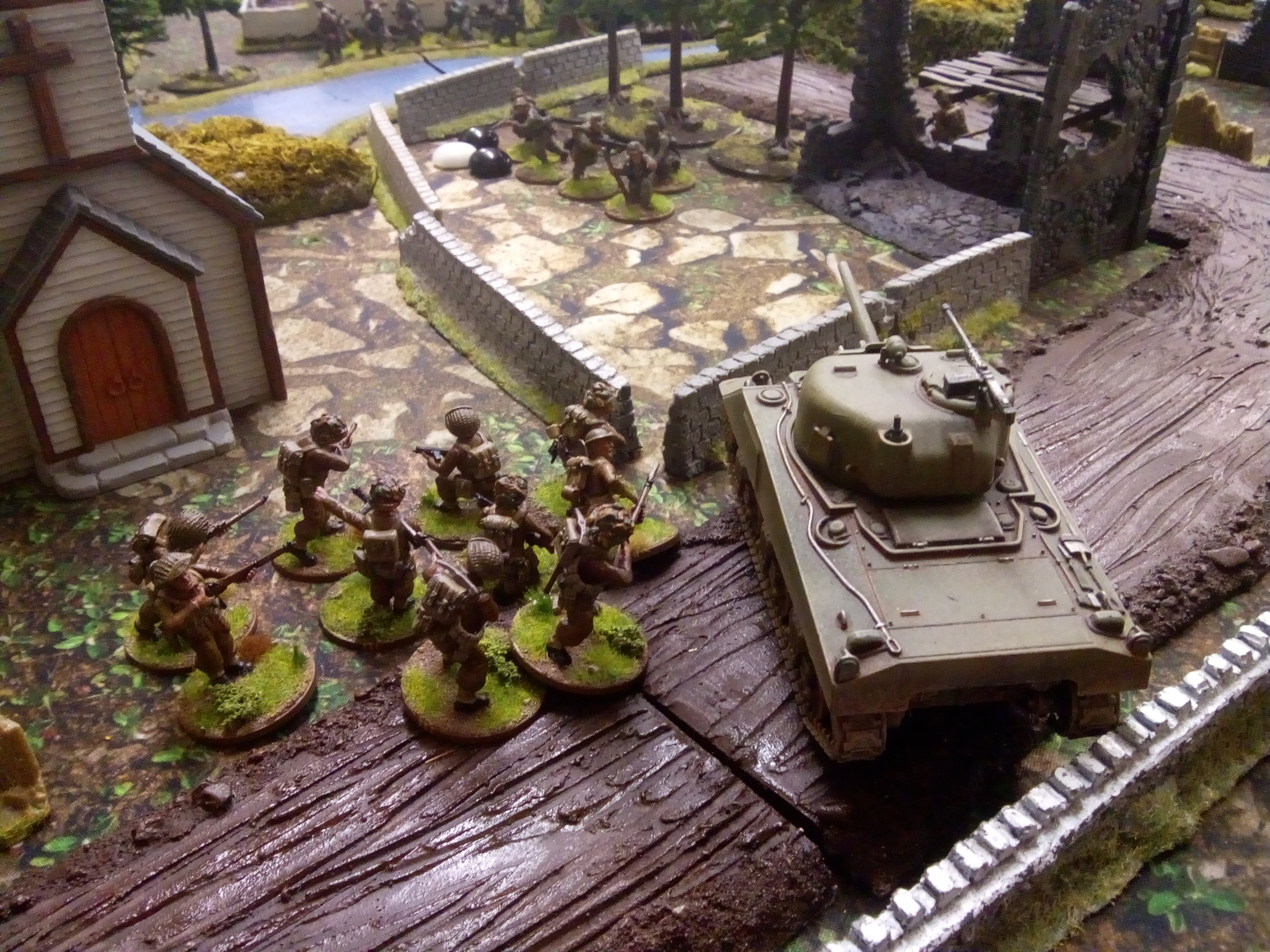 4KSLI; 11th Armoured Div versus Koniggruppen in a fierce infantry engagement