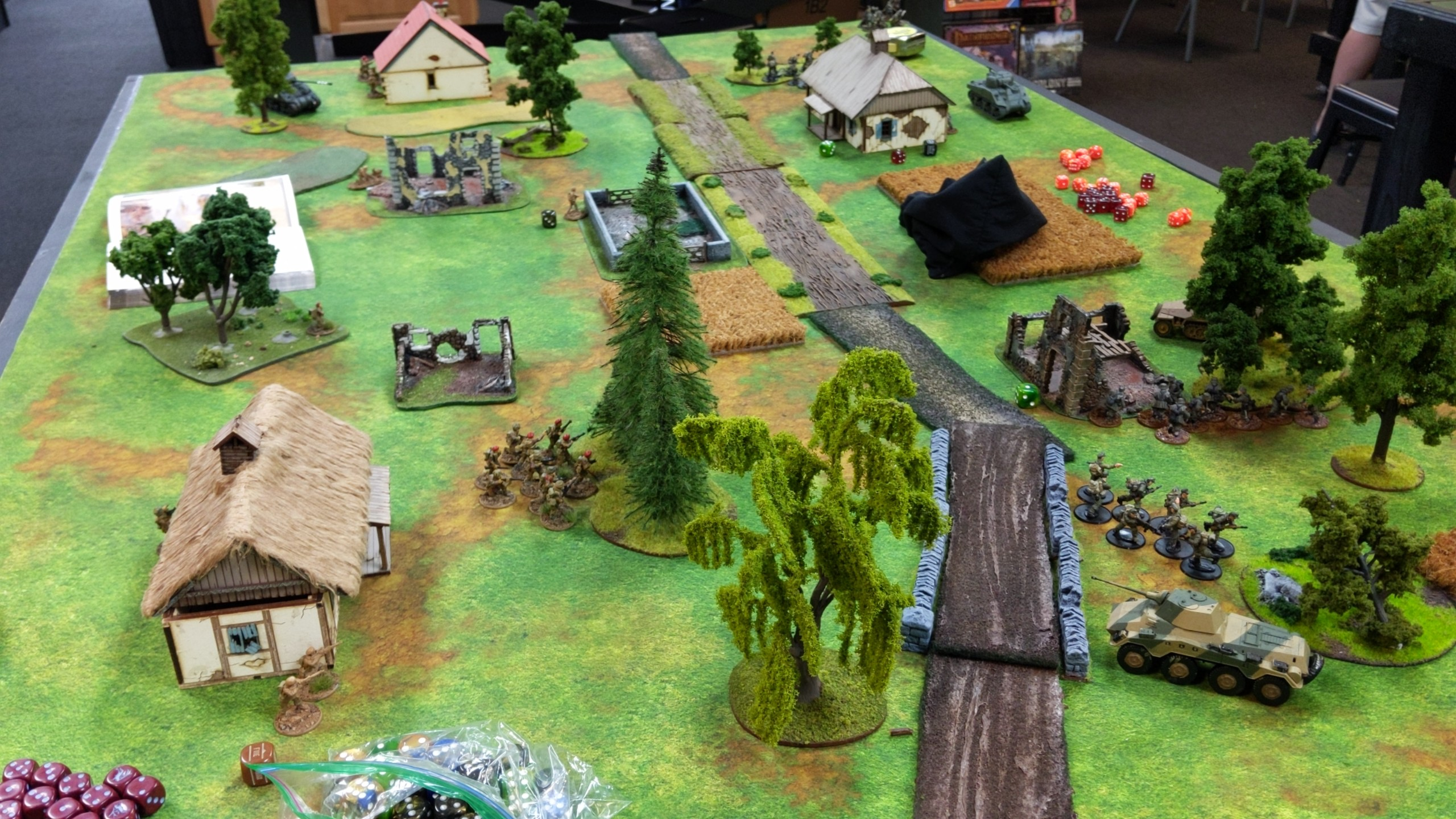 Devil's Backbone versus Kampfgruppe rot in a fierce infantry engagement