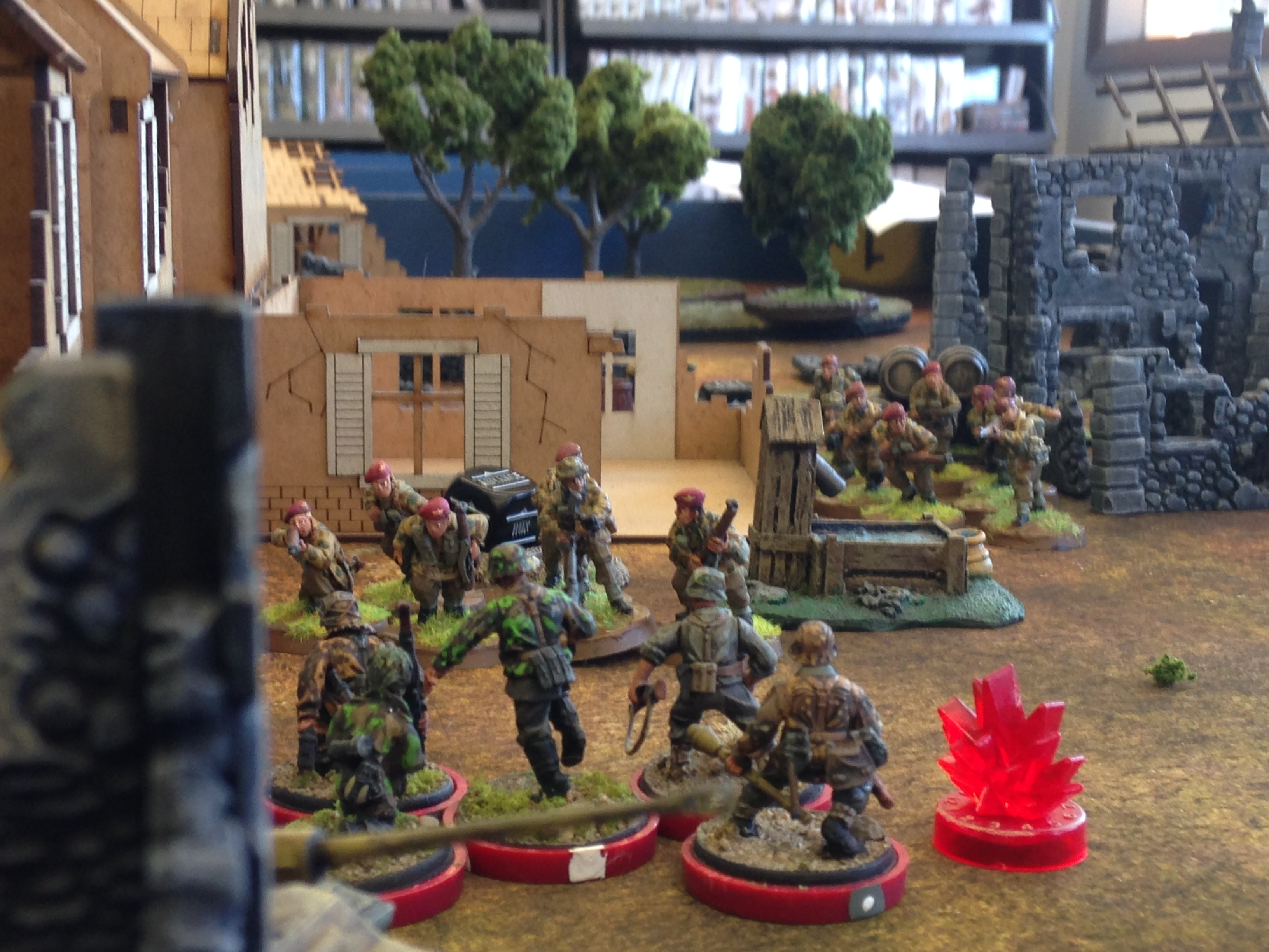 Silent Wings versus Hessler's Gas Guzzlers in a fierce infantry engagement