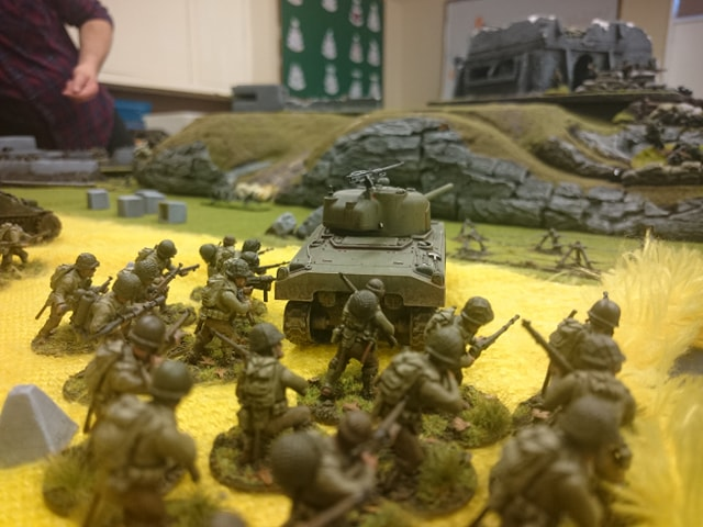 Koniggruppen versus 1st infantry division in a fierce infantry engagement