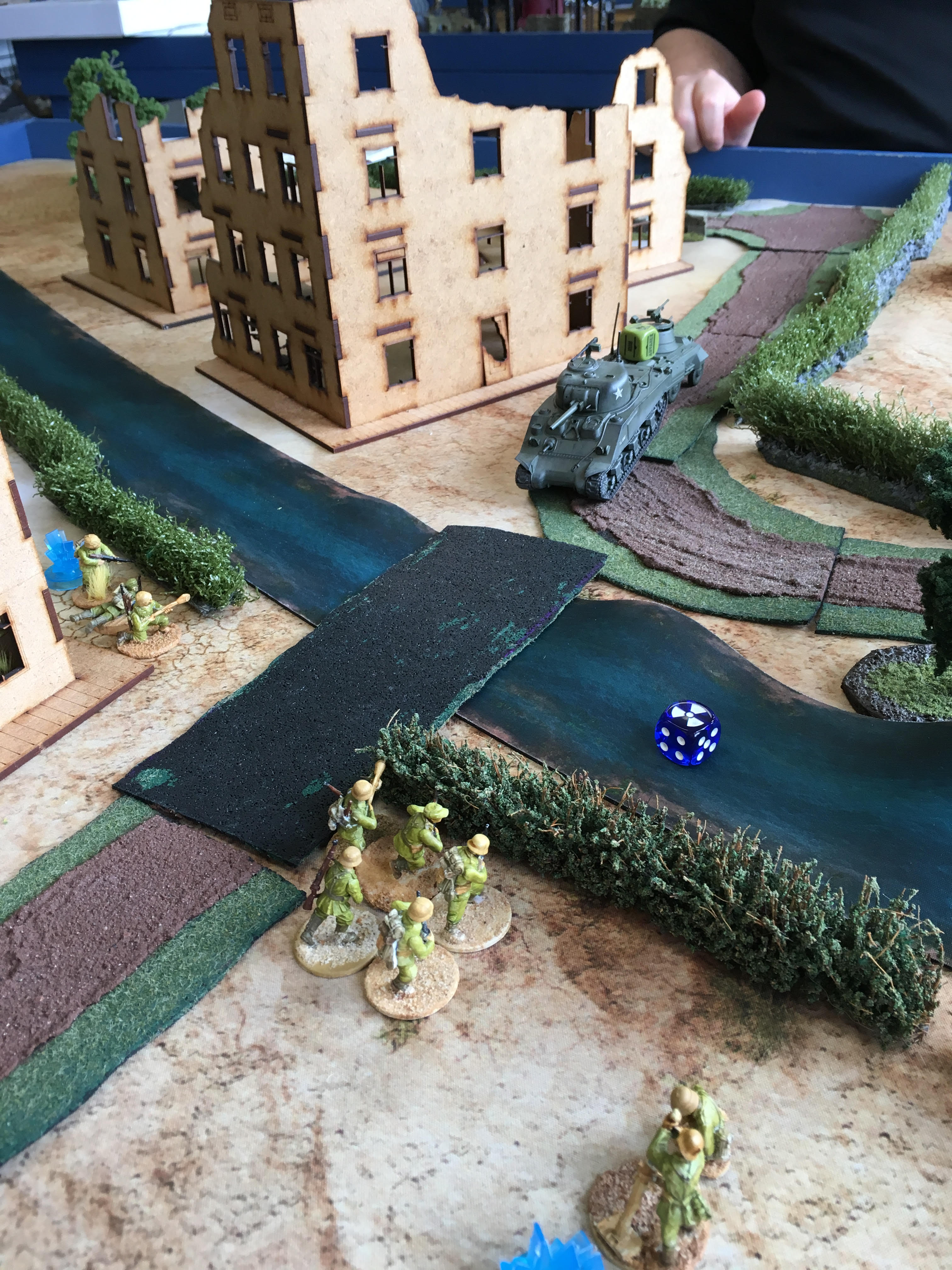 DAK versus 29th Infantry Division in a fierce infantry engagement