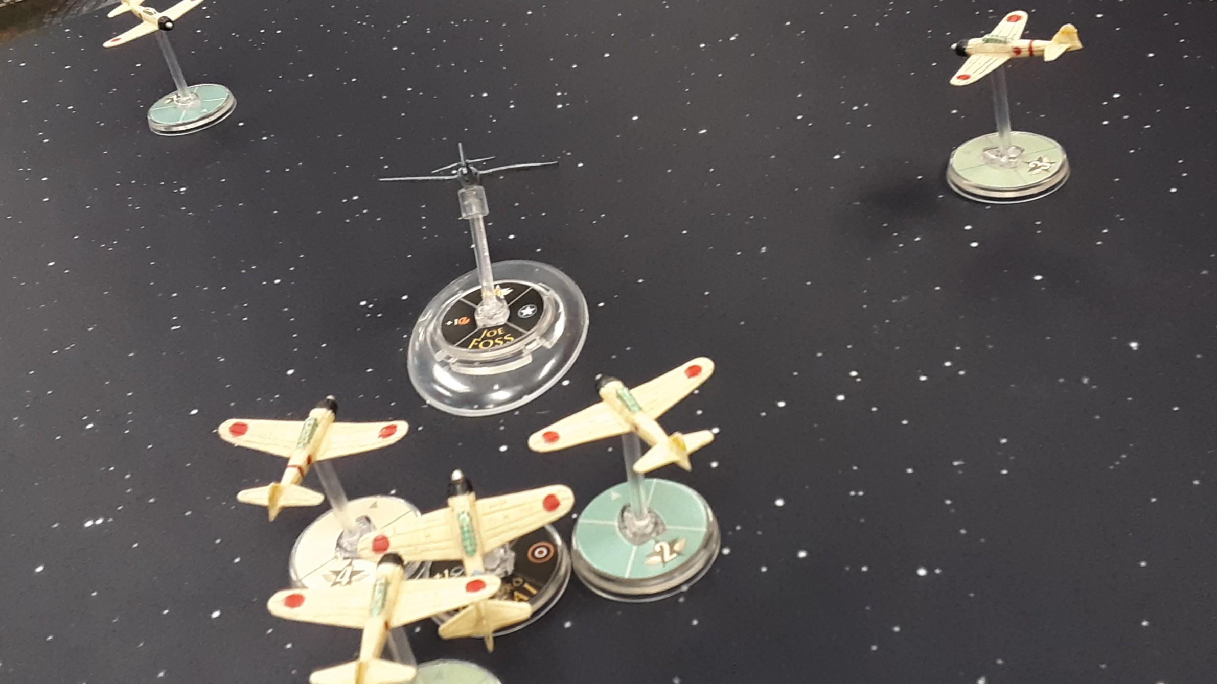 Akahori's Black Tiger Company versus Irish Rangers in an aerial engagement
