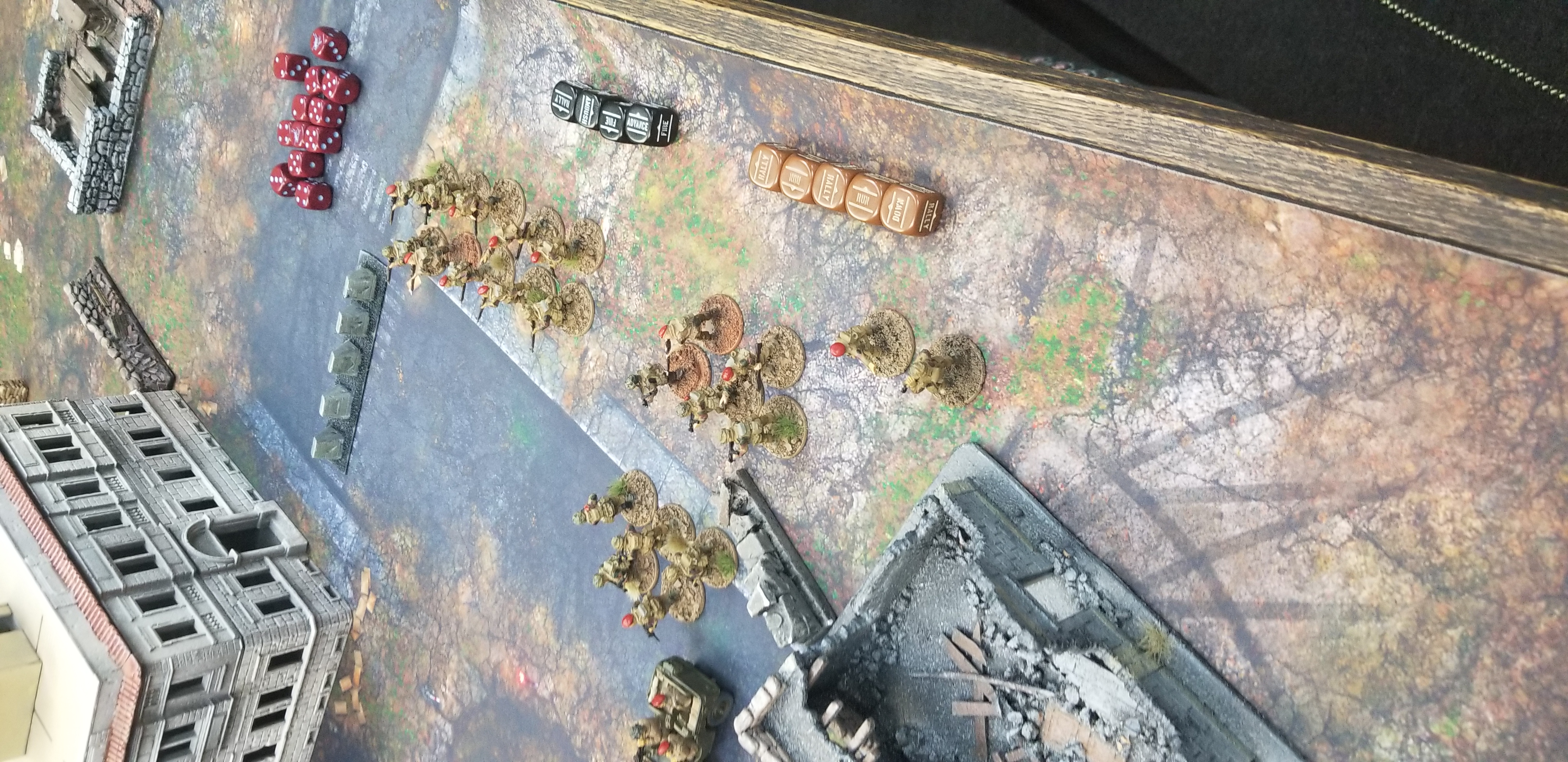 Ovcharenko versus Kampfgruppe rot in a fierce infantry engagement
