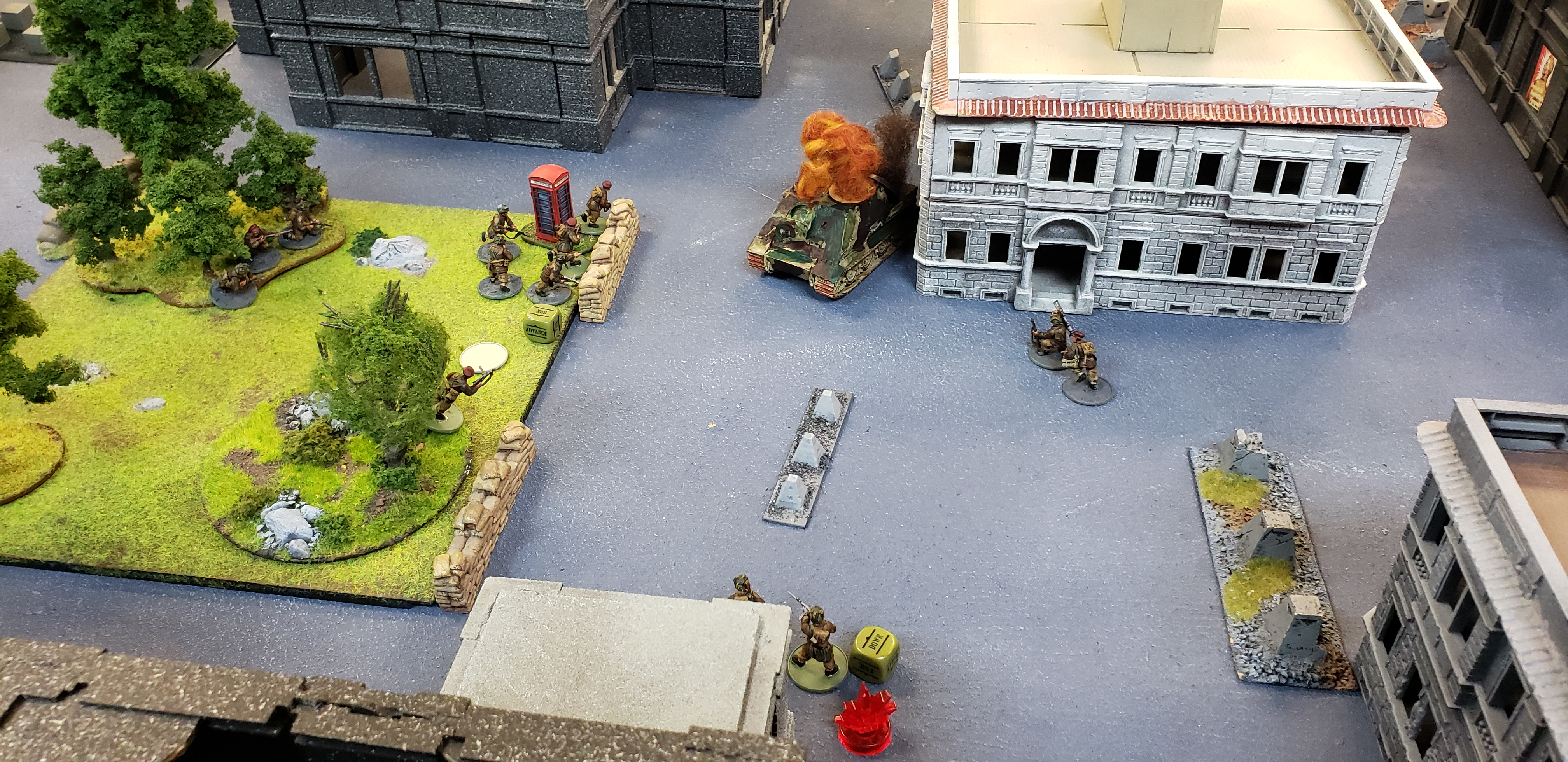 The Hounds versus Kampfgruppe Reichardt in a fierce infantry engagement