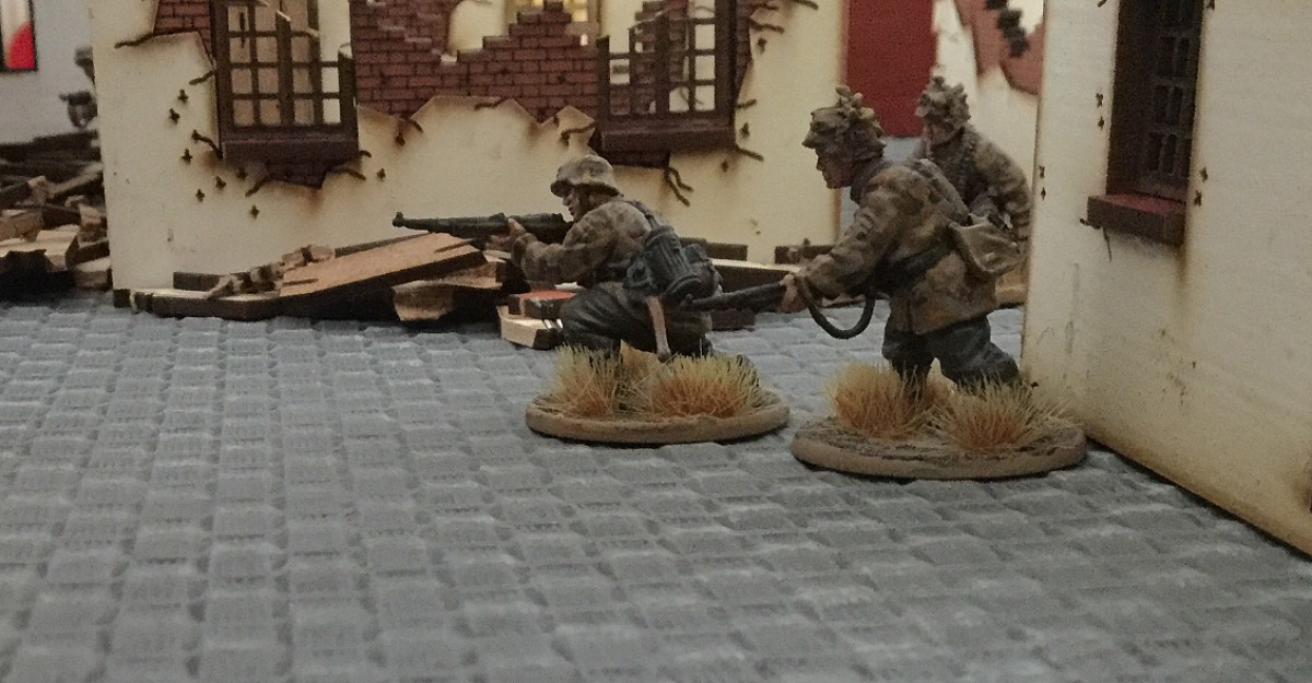 Brandenburgers versus Tommies in a fierce infantry engagement