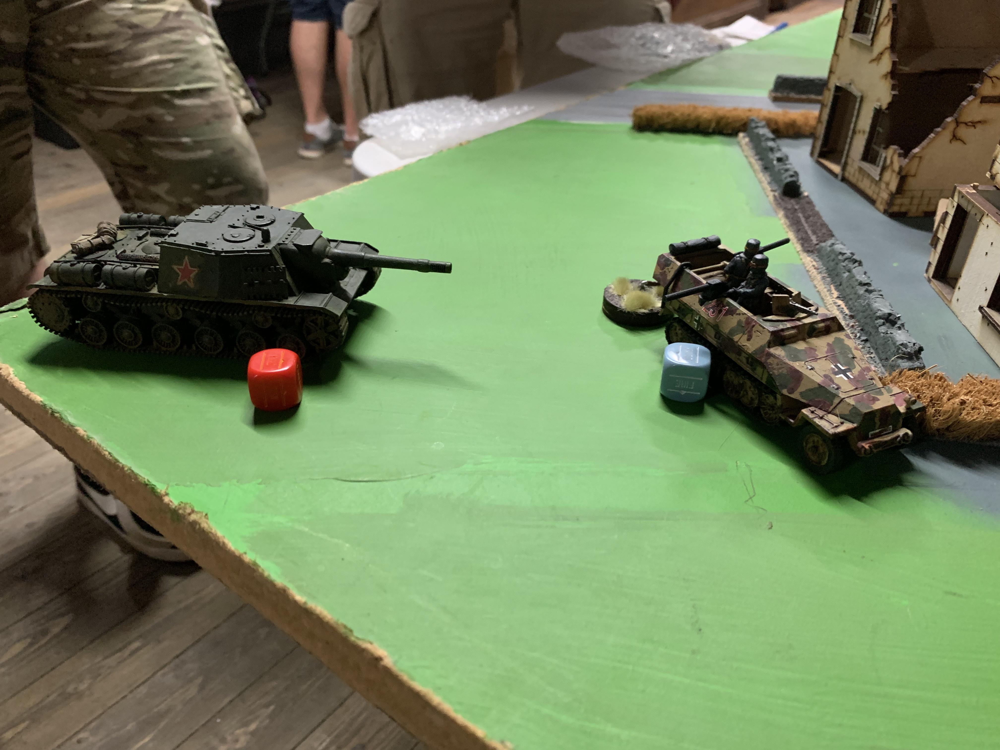 Red Death versus Brandenburgers in a fierce infantry engagement