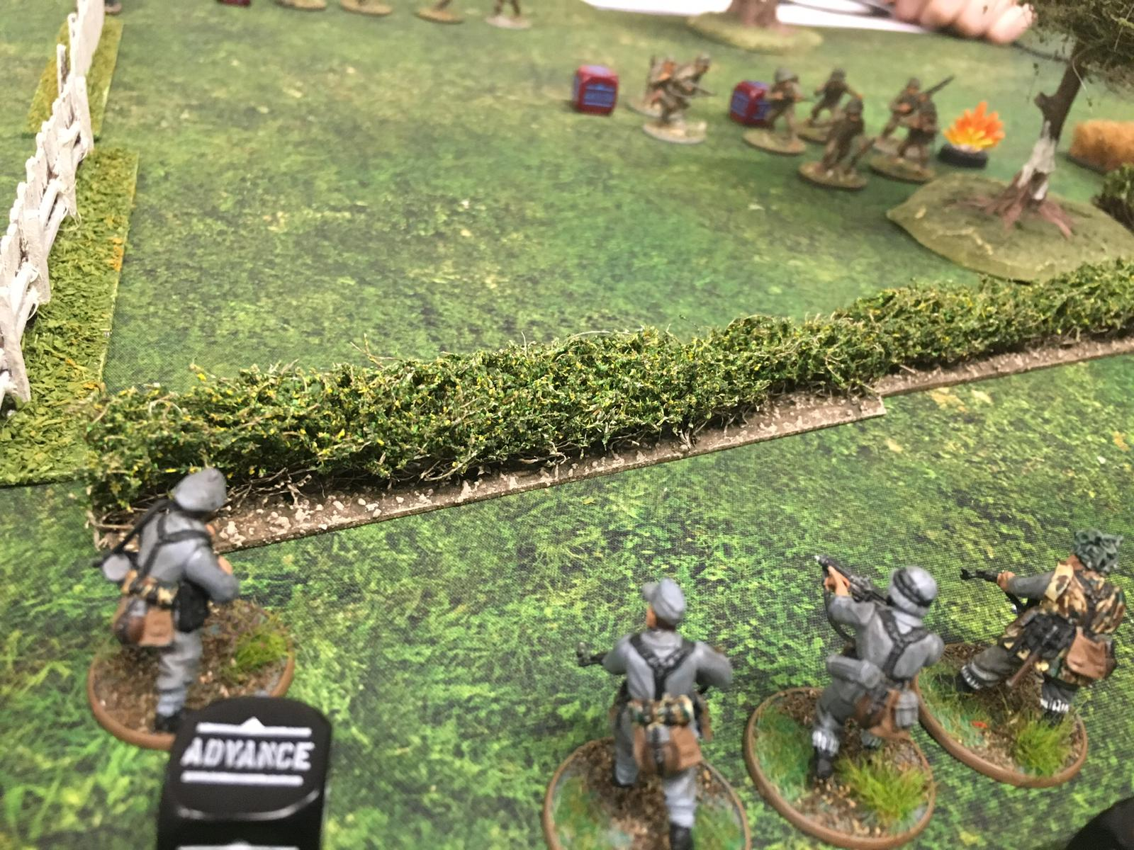 Desert Rats versus German grenadier's in a fierce infantry engagement