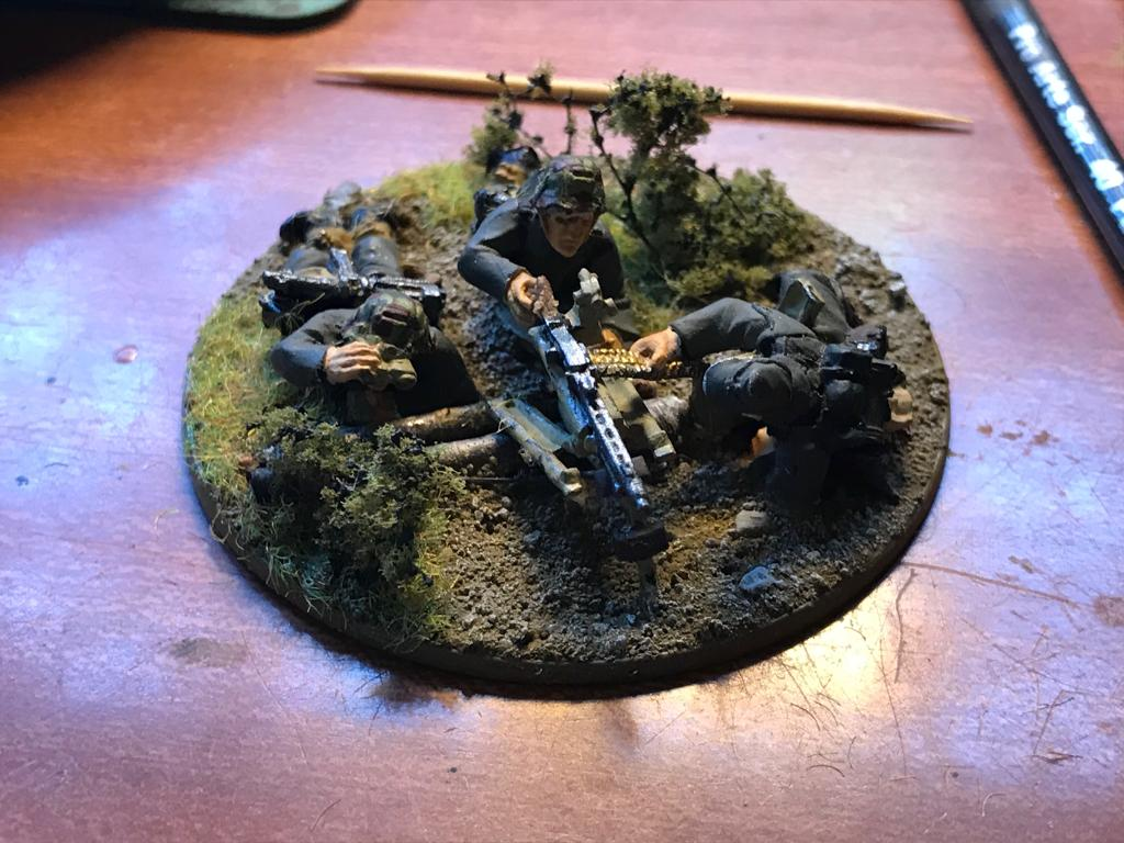 Desert Rats versus German grenadier's in a fierce infantry engagement