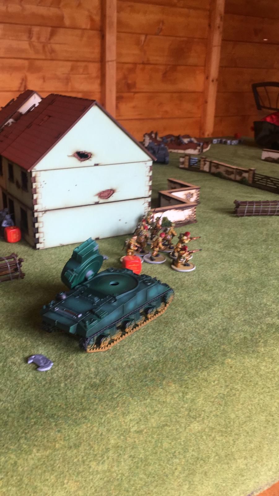 Germans versus Airborne brits in a fierce infantry engagement