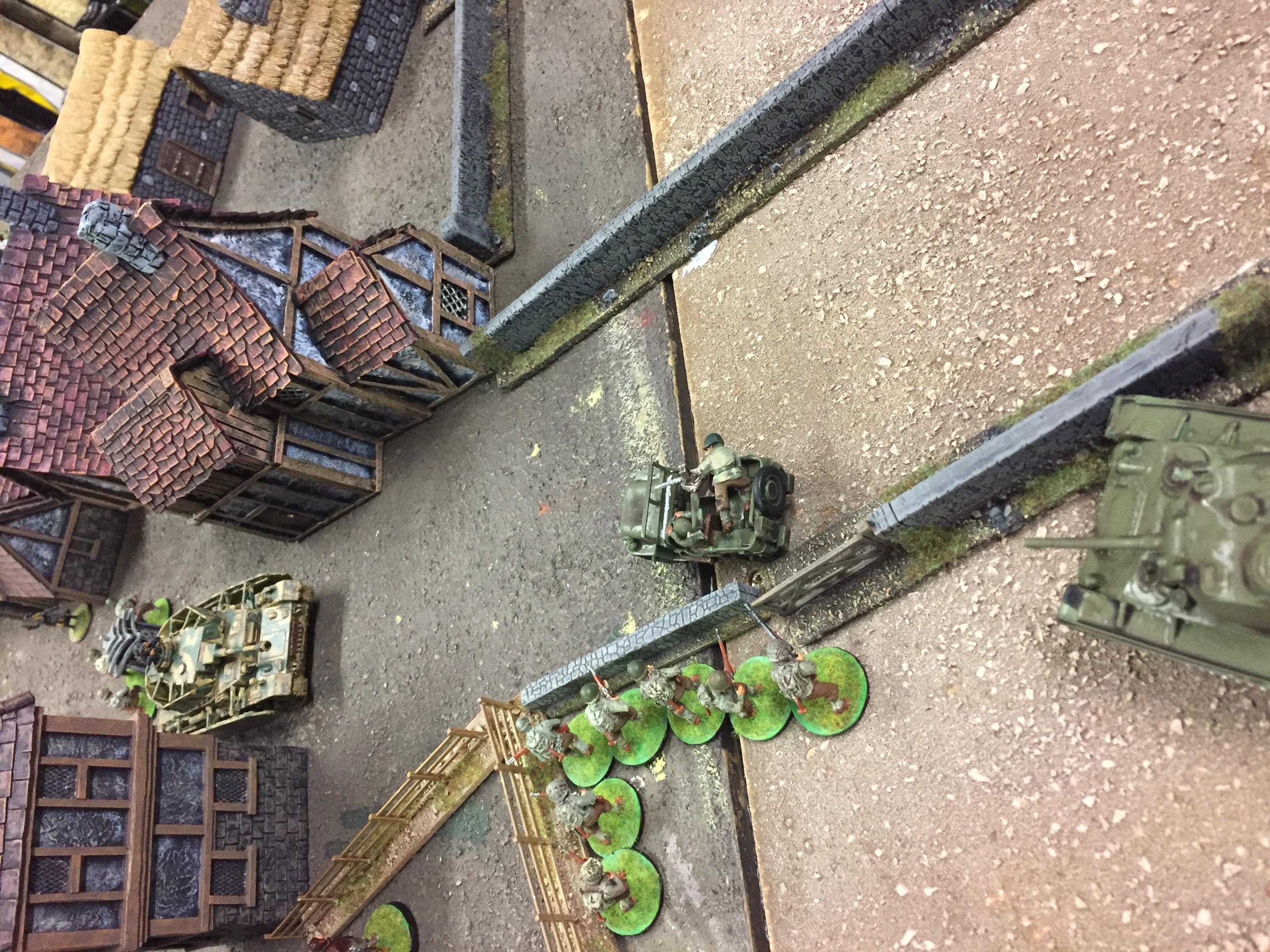 Aaron's Heros versus Skulls and Bones in a fierce infantry engagement