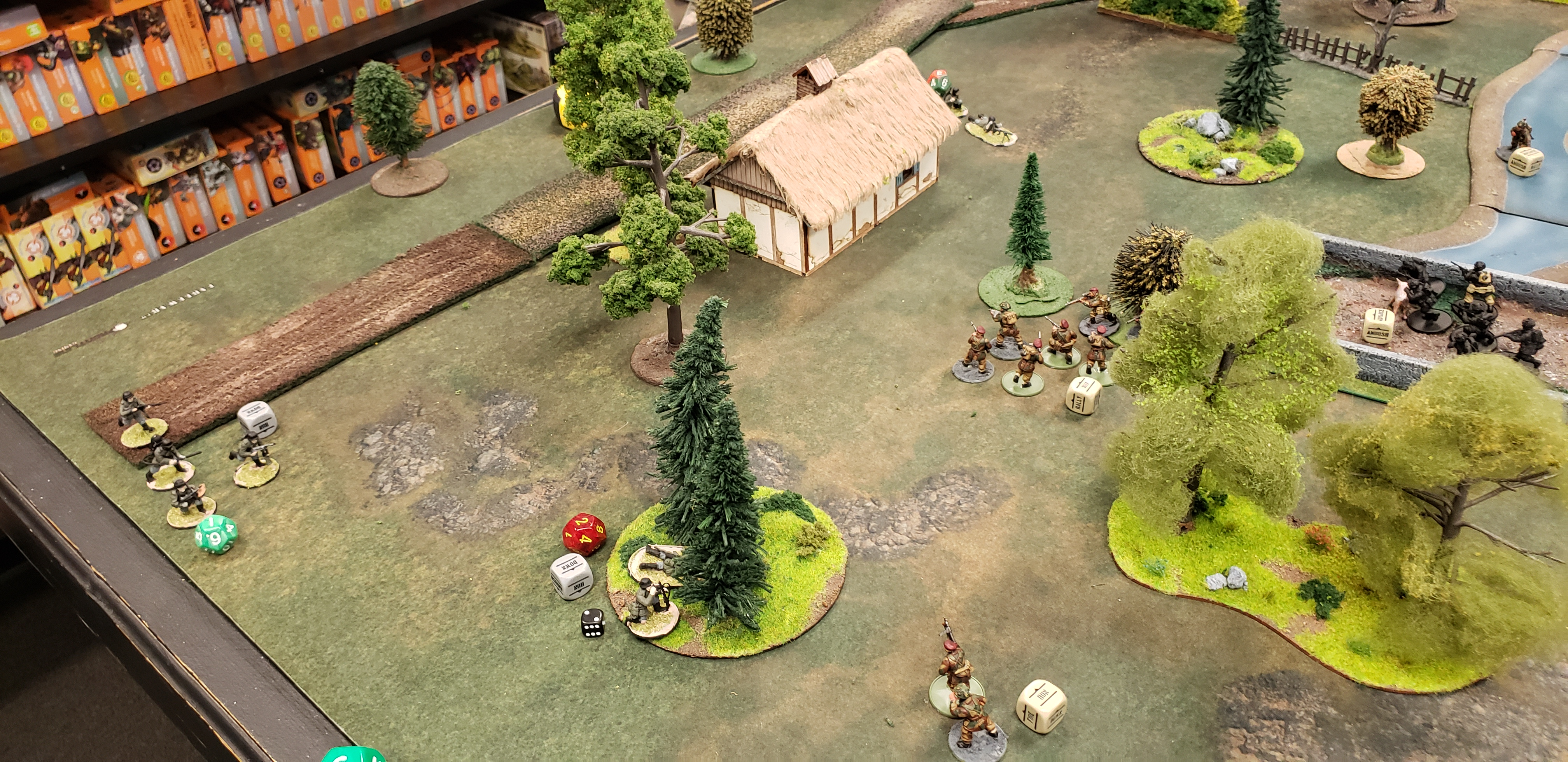 The Hounds versus 352nd Pionier Battalion in a fierce infantry engagement