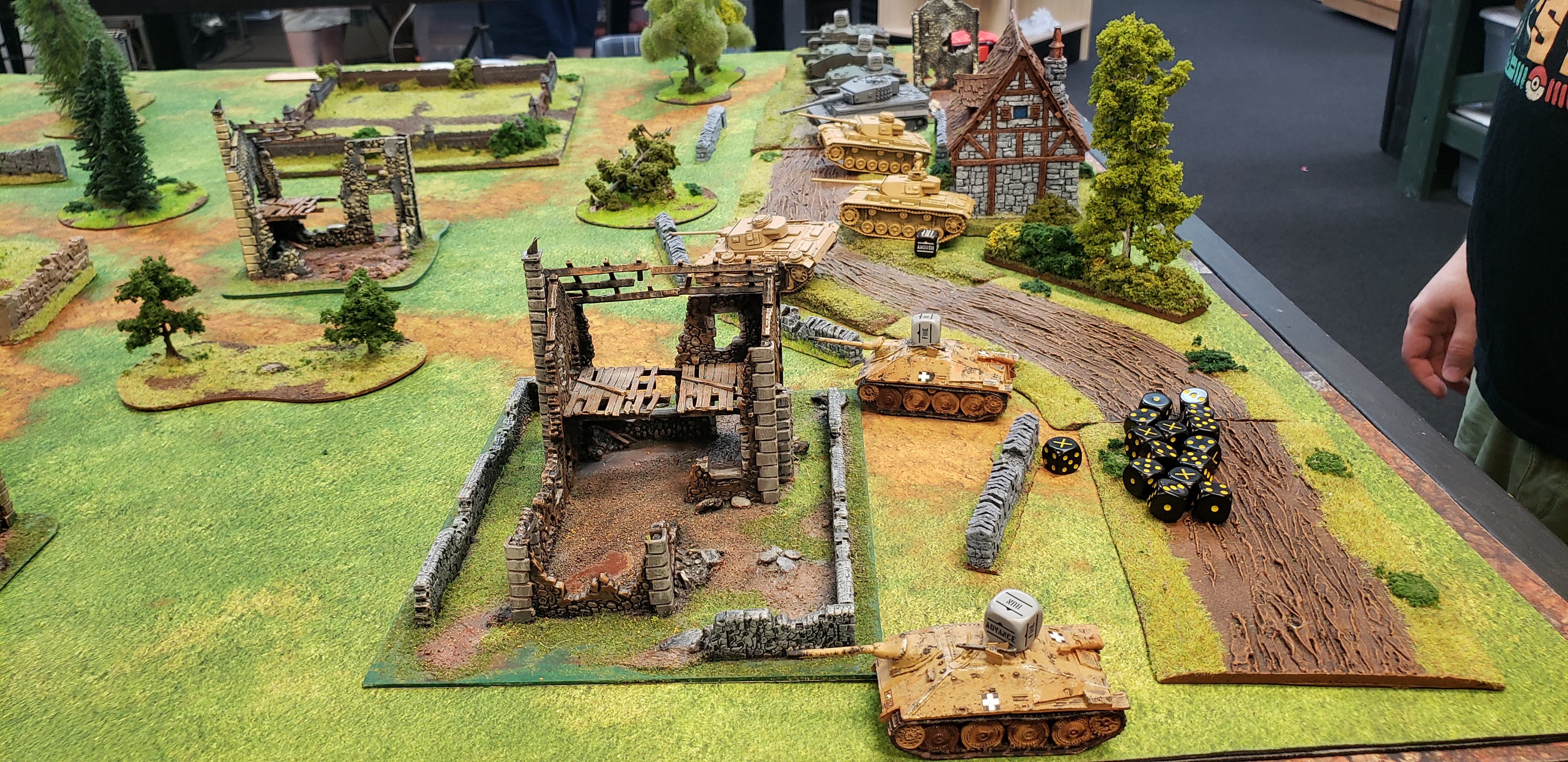 The Hounds versus 1st SS Panzer Division Leibstandarte SS Adolf Hitler in an armoured engagement