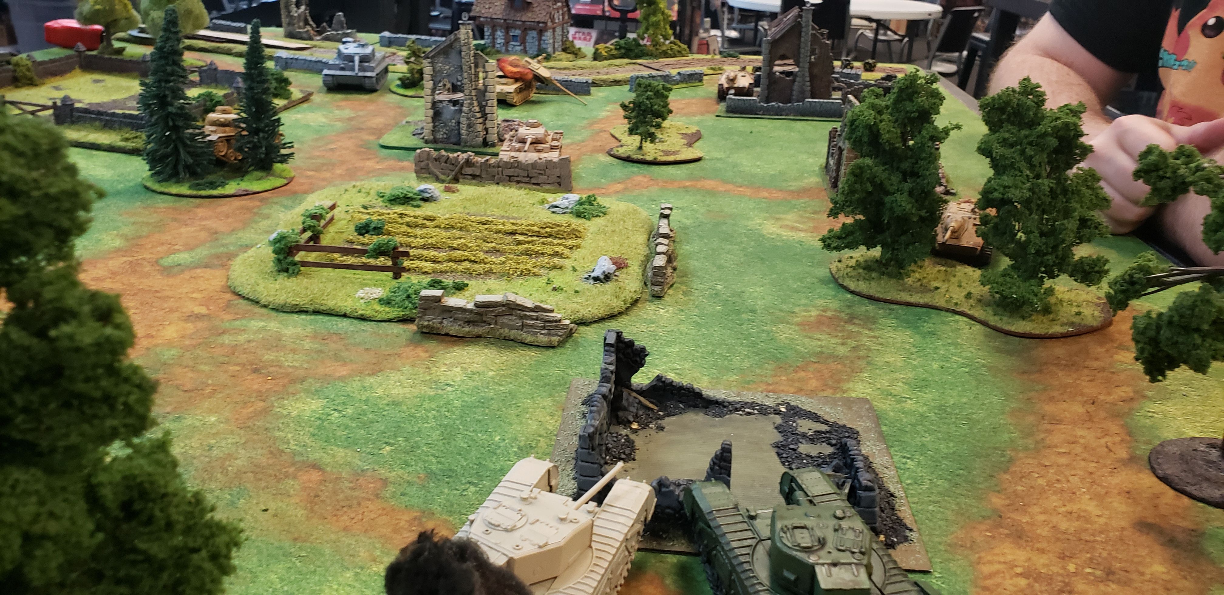 The Hounds versus 2nd SS Panzer Division in an armoured engagement