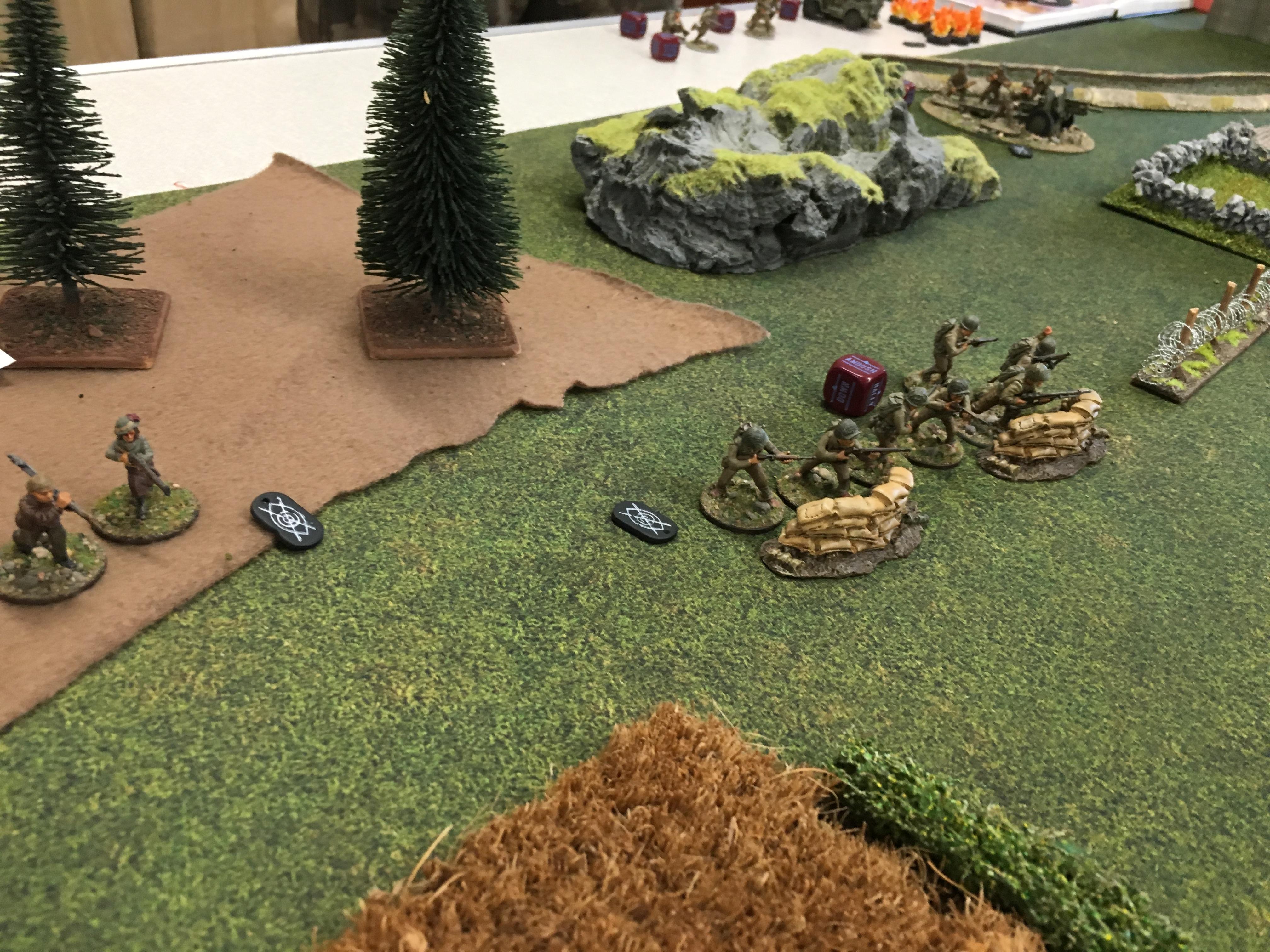 German grenadier's versus Us winter in a fierce infantry engagement