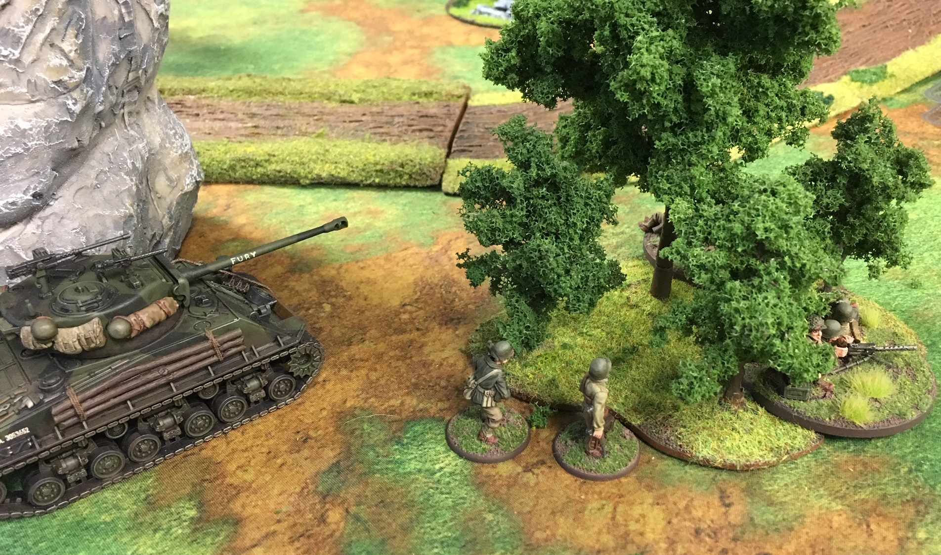The Furious versus 1.Minensuchenflotille in a fierce infantry engagement