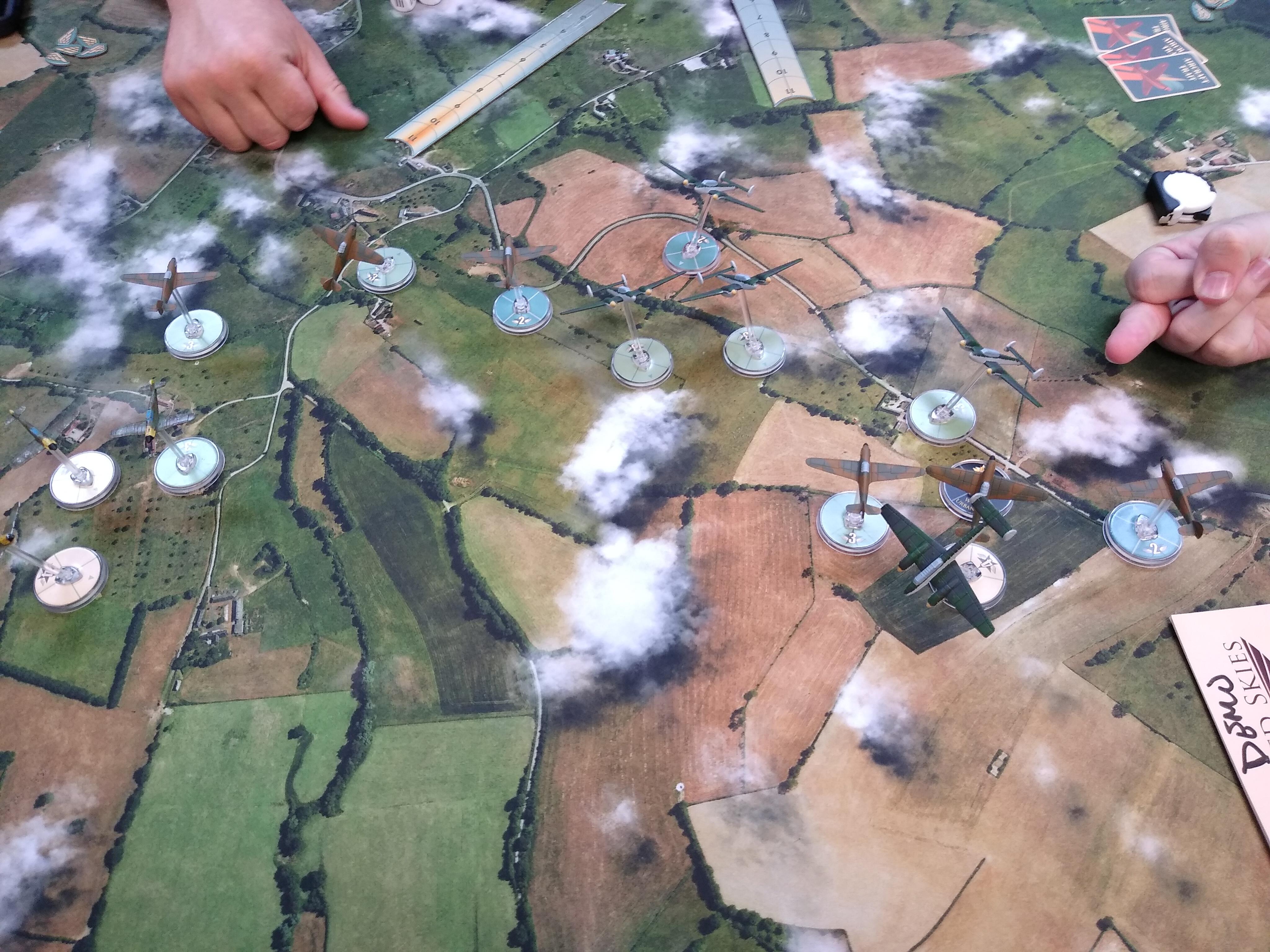 Zemsta Escadrille versus 1st SS Panzer Division Leibstandarte SS Adolf Hitler in an aerial engagement